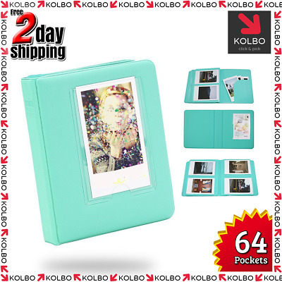 Photo Album Film Sticker Compatible for Mini Polaroid Film (64 Pocket Green)