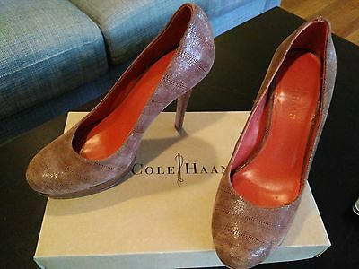 6960caf752f Cole Haan Mariela Air Chestnut Exotic Pumps Heels - Great Condition - Size 7