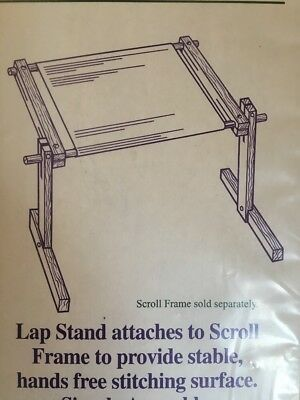HOMECRAFTERS NEEDLEWORK LAP Stand for Scroll Frames – NIP - $18.00 ...