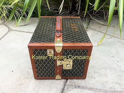 Goyard Antique Monogram Library Book Steamer Trunk style louis vuitton suitcase2