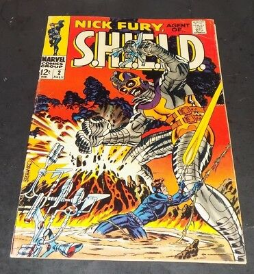 "Nick Fury Agent of S.H.I.E.L.D. #2 ""FINE-"" Steranko Cover!! -Marvel-"