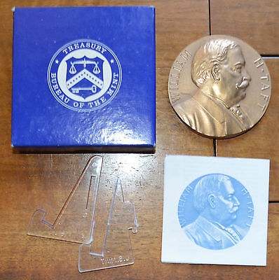 COMPLETE 1909 PRESIDENT WILLIAM H TAFT US MINT BRONZE INAUGURAl MEDAL 3""