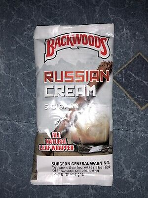 Russian Cream Backwoods Pack Of 5 Fast Free Shipping Backwood
