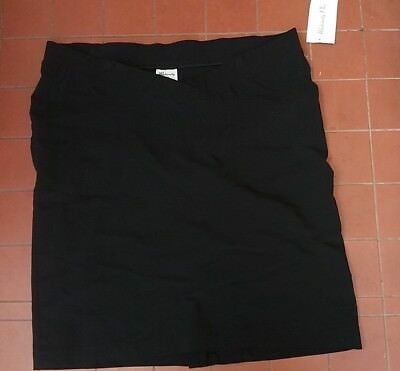 Maternity Skirt Black Pull on  Size 18 by Maternity Plus NWT