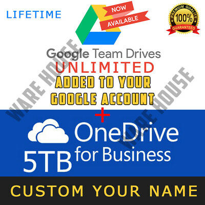 Google Drive Unlimited added to your Google Account + ONEDRIVE 5TB LIFETIME