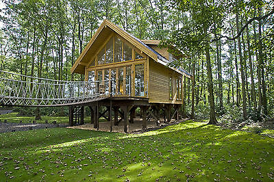 TREE HOUSE HOLIDAY LUXURY LAKESIDE LODGE NEAR THE LAKES  SELF CATERING cabin