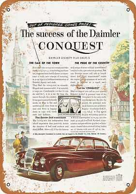 """7"""" x 10"""" Metal Sign - 1953 Daimler Conquest - Vintage Look Repro"""