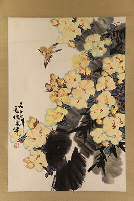 chinese hanging scroll art painting flowers e3318 23 50 picclick