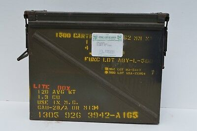 Extra Large U.s Metal Surplus Ammo Box 1500 Cartridges Small Arms Empty Box Only
