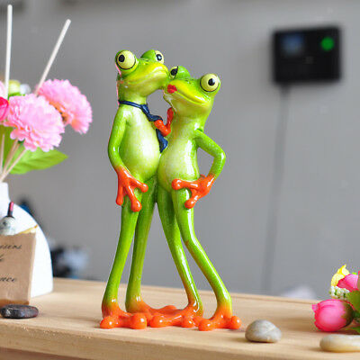Cute Resin Animal Frog Lover Crafts Home Office Decor Crafts Frog Figurine B