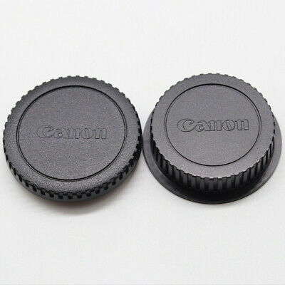 Camera Body Cap + Rear Lens Cover for Canon EOS EF EF-S 1200D 750D 550D 80D 5D