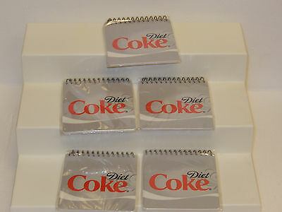 Diet Coca-Cola Spiral notebook Diet Coke Lot of 5 ~ 40 sheets on each book