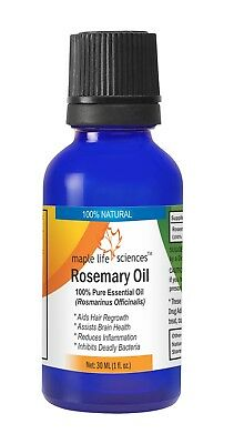 Rosemary Essential Oil 100% Pure & Natural Rosmarinus Officinalis Aid hair grow