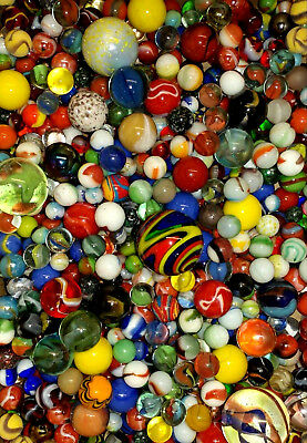 614 Marbles Vintage Hand Made Antique Mineral Agate Style Akro Peltier CAC Vacor