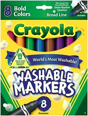 Crayola Broad Line Washable Markers - Bold Colours - 8 pack