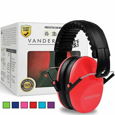 Red Ear Defenders Kids Toddlers Hearing Protection Autism Noise Reduction