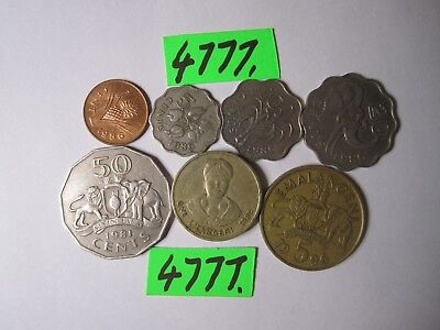 7 x  coins from Swaziland     18    gms      Mar4777