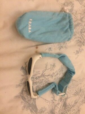 Beaba Baby Boy Sunglasses White Blue Strap Bag
