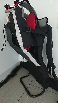 Bush baby micro carrier baby backpack upto 15kg Red Grey Black