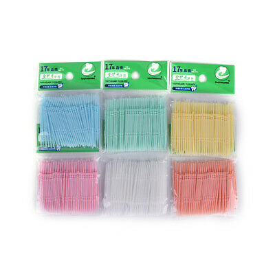 100 piezas de higiene oral dental dental cepillo interdental dental v