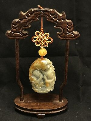 Chinese Hand Carved Burmese Jade Pendant