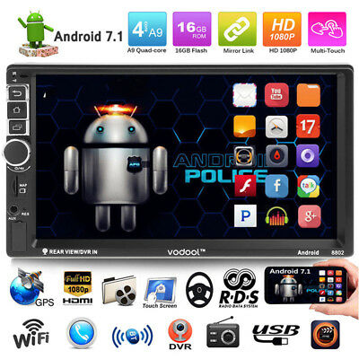 "VODOOL 7"" HD Pantalla táctil 2Din Quad-core Android Bluetooth Car GPS MP5 Player"