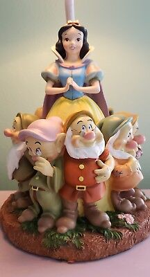 RARE Disney Snow White and the Seven Dwarfs Lamp ~~ HTF