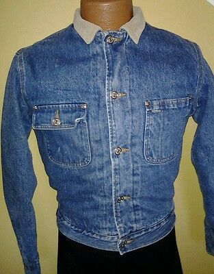 Vtg Polo Ralph Lauren Wool  Denim Jacket Corduroy Collar Size S Unisex Chest 40