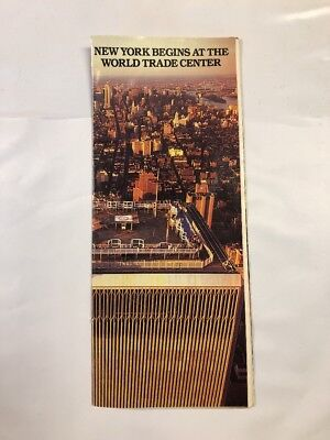 World Trade Center Twin Towers WTC 9/11  New York Begins Brochure - 1986
