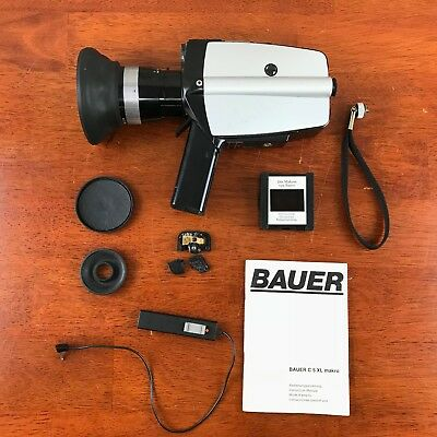 Vintage Bauer C5 XL Makro 8mm Movie Camera Untested As Is For Parts only