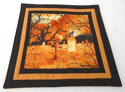 Samhain altar mat altar cloth handmade quilted pagan Wicca witch