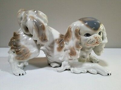 King Charles Spaniel Japanese Chin Large Dog Figurine Museo 1st Edition - Mann