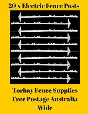 Electric Poly Fence Posts x 20