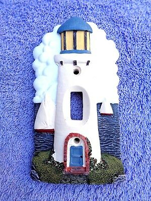Lighthouse Themed 3-D Single Switch Light Switch Cover