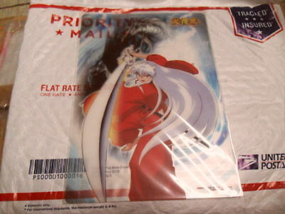 Inuyasha w/ Sword Clear Plate Pencil Board Shitajiki Official Japan Bandai RARE