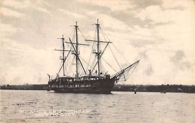 Mystic Connecticut Whaling Ship Morgan Waterfront Antique Postcard K98963