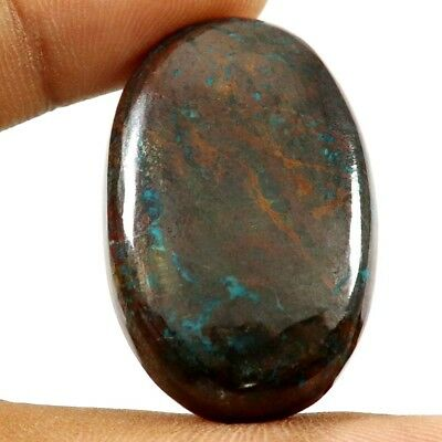 68.35 cts Natural Designer Iron Azurite Cabochone Untreated Oval Loose Gemstone