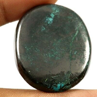 66.05 cts Natural Designer Iron Azurite Cabochone Untreated Oval Loose Gemstone