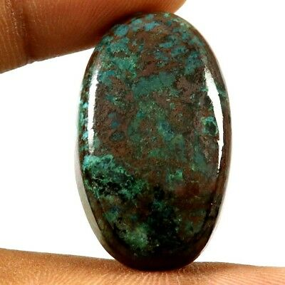 36.25 cts Natural Designer Iron Azurite Cabochone Untreated Oval Loose Gemstone