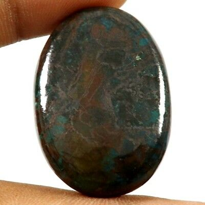 54.40 cts Natural Designer Iron Azurite Cabochone Untreated Oval Loose Gemstone
