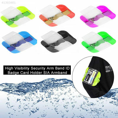 Practical High Visibility Card Sleeve Arm Band Id Card Holder