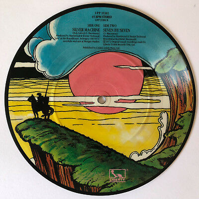 Hawkwind • Silver Machine • Ltd Ed • 10th Anniversary • UK ONLY PICTURE DISC 7""