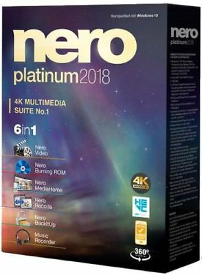 Nero Platinum 2018 HD Multimedia Suite 6 in 1【Digital Download - FULL VERSION】