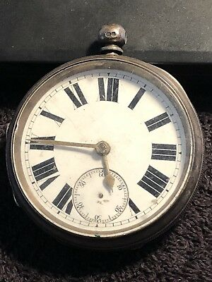 Antique Victorian Sterling Silver Cased Pocket Watch,1894,-150.16g