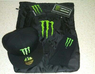 Monster Energy New Era 9Fifty Hat/ Clinch Bag, Socks & Stickers 2017 monsterswag