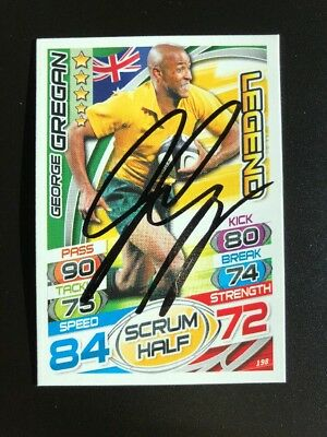 Signed George Gregan Australia Rugby Attax 2015 Legend Card PROOF