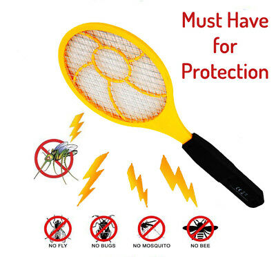 LED Electric Fly Swatter Bug Zapper Racket Ideal As Fly Zapper Mosquito Zapper