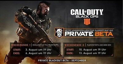 Call of Duty Black Ops 4 Beta PC PS4 XBOX ONE Beta Code