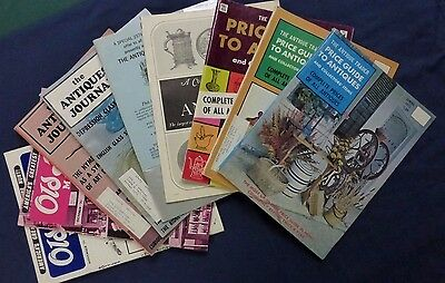 LOT- 9 ANTIQUE PRICE GUIDE MAGAZINES- 1970'S-TRADER- Glass, BOTTLES, Porcelain +