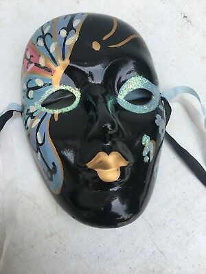 Chinese Oriental Mask Ceramic Asian Wall Decoration